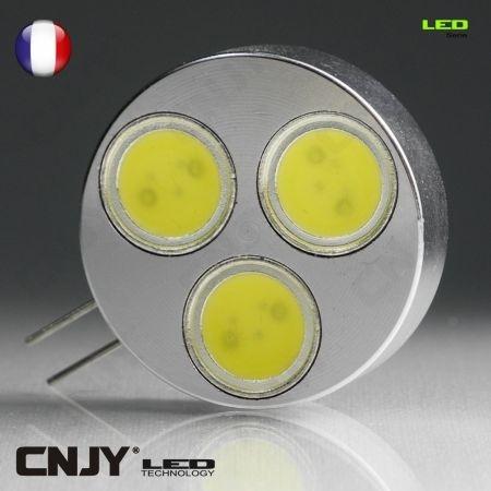 cnjy led technologie 1 ampoule led g4 4 5w 12v vdc blanc froid maison bateau camping car g4 4 5w. Black Bedroom Furniture Sets. Home Design Ideas