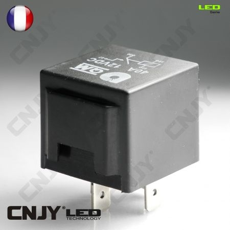 cnjy led technologie relais automobile 12v dc ou 24v dc 4 broches 40amp ou 80amp relais 4 broches. Black Bedroom Furniture Sets. Home Design Ideas