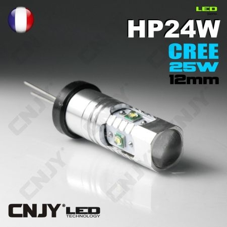 ampoule led cnjy hp24w cree 25w feux de jour diurne blanc 6000k pour montage sur citroen c5 c4. Black Bedroom Furniture Sets. Home Design Ideas