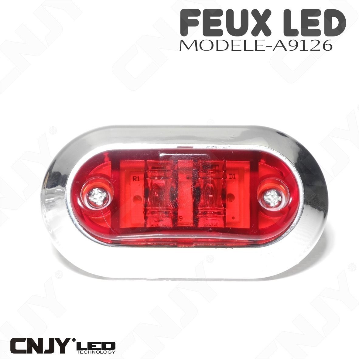 feux de gabarit led rouge puissant remorque auto camion 12 24v ip68 7 46 chez cnjy led fr. Black Bedroom Furniture Sets. Home Design Ideas
