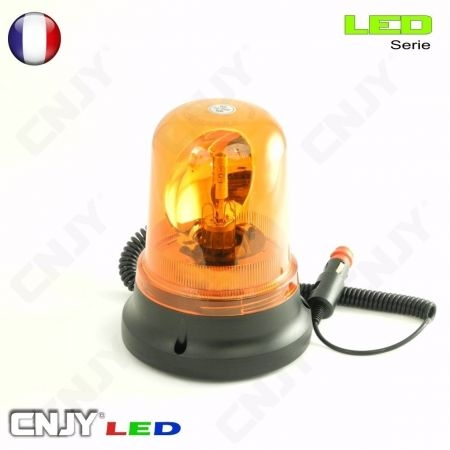 gyrophare led rotatif toit barre rampe tube rigide orange 12v 24v aimante camion auto quad moto. Black Bedroom Furniture Sets. Home Design Ideas