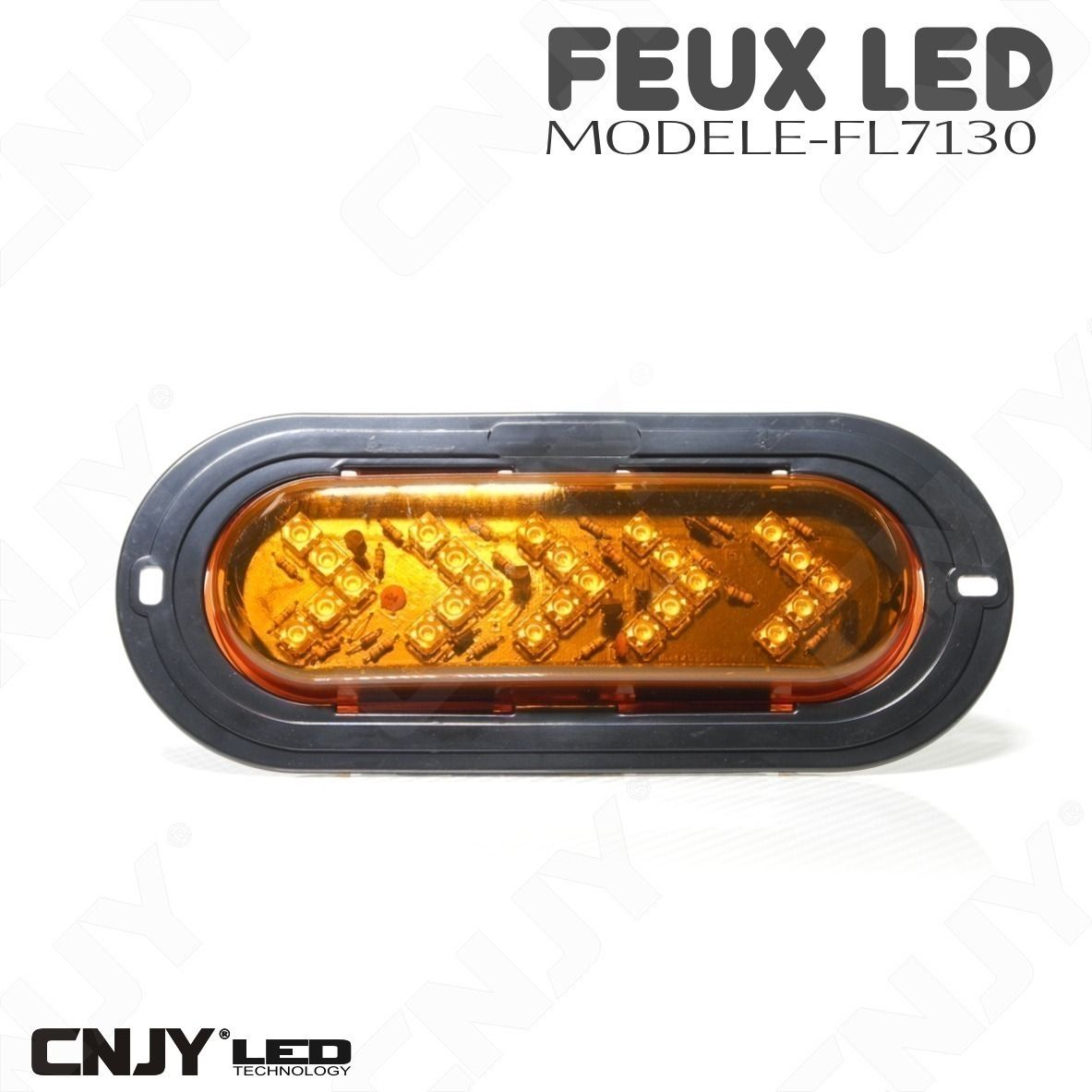 Feux directionnel fleche de defilement a led orange 12v - Grille un feu orange combien de point ...