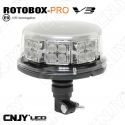GYROPHARE LED ROTOBOX PRO V3 FIXATION SUR MAT 12/24V