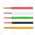 Câble multibrin 1x 1.00mm² coloré - Isolation PVC - âme cuivre