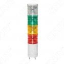 GYROPHARE DE SIGNALISATION INDUSTRIELLE 24V DC BLANC VERT ORANGE ROUGE