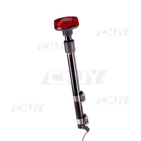 Gyrophare sur mat à led rouge pour moto télescopique
