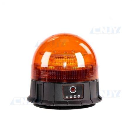 Gyrophare led orange sans fil autonome et magnétique ECE R65