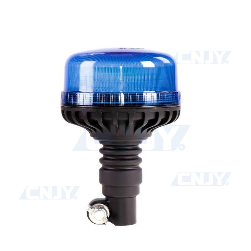 Gyrophare led 36W bleu sur mât flexible