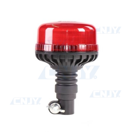 Gyrophare led 36W Rouge sur mât flexible ECE R65