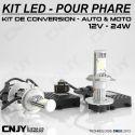 KIT LED CNJY ELISTAR H4-BI HI/LOW 12V BLANC 5500K 2 AMPOULES POUR FEUX CROISEMENT-DE ROUTE-ANTI BROUILLARD 12V