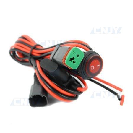 Faisceau câblé d'alimentation auto moto camion pour feux et phare additionnels LED