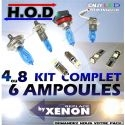 PACK 8 AMPOULES HOD+VEILLEUSES LED POUR FORD S MAX