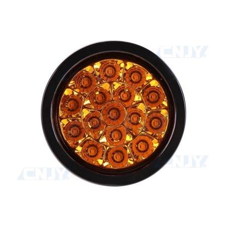feu clignotant à led rond pour remorque orange 12V 24V