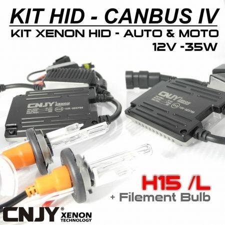 """KIT XENON HID H15/L 6000K CANBUS SLIM""""CNJY""""ANTI ERREUR ODB VW GOLF 6 AUDI A5 A6"""