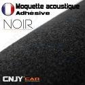 ROULEAU DE MOQUETTE ACOUSTIQUE ADHESIVE NOIR