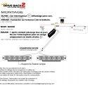 Feux de pénétration pour calandre à led blanc 12V 24V