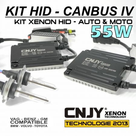 KIT XENON H7 HID BALLAST 55W SLIM CNJY CANBUS 4 TECHNOLOGIE ANTI ERREUR ODB 2013 !!