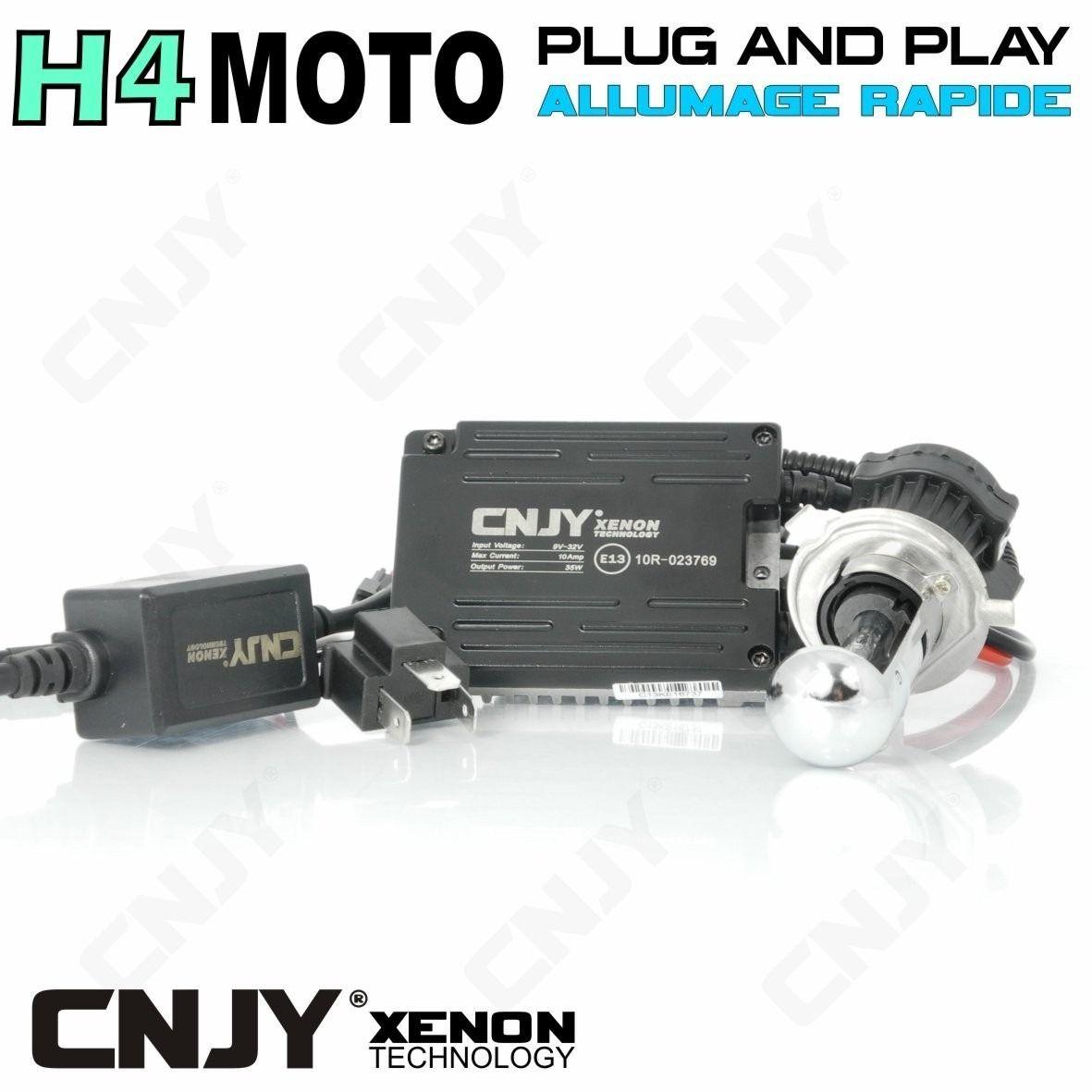 KIT XENON HID SPECIAL MOTO H4 HI LOW BI XENON 5000K 6000K 8000K 10000K
