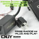 KIT XENON HID H4-MOTO HI/LOW 35W AVEC PRISE PLUG AND PLAY & BALLAST QUICK START