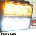 Feu à éclat et de pénétration à led double puissant 18W 12V 24V blanc orange rouge vert bleu