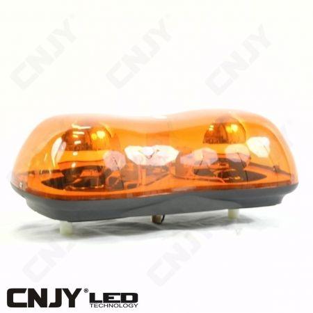 Gyrophare led double rotatif Daytona 110W orange à visser