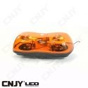 Gyrophare led double rotatif Daytona 110W orange à visser 12v