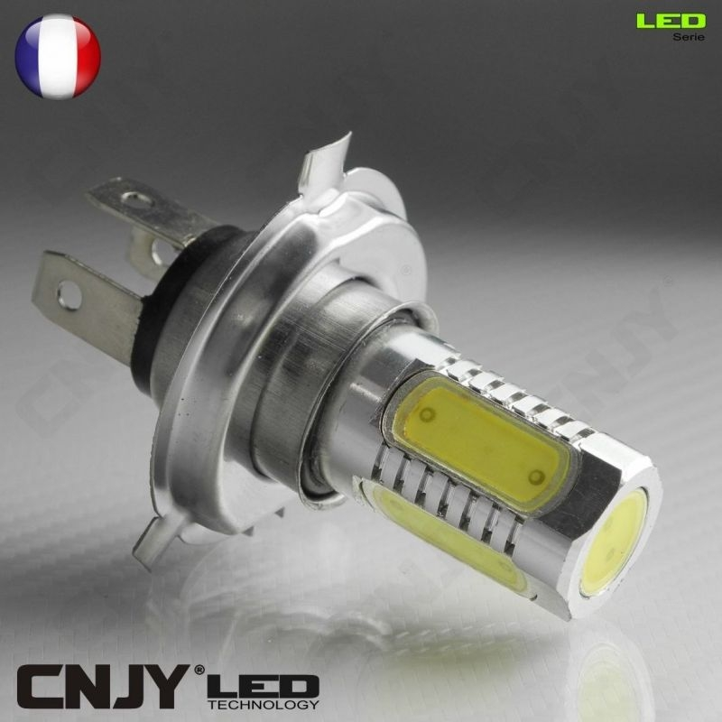 1 AMPOULE H4 P43T 5 LED HLU 8W HI/LOW DUAL INTENSITY 12V AUTO MOTO