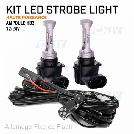 Kit ampoule stroboscopique à led haute puissance HB3 12V 24V