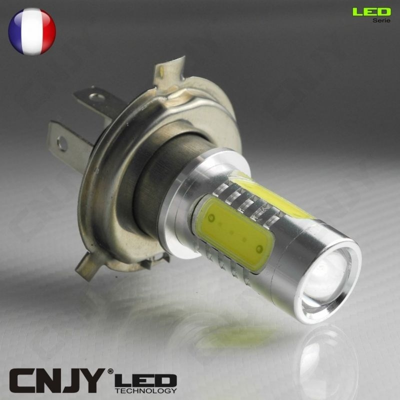 1 AMPOULE H4 P43T 4 LED HLU + CREE 11W HI/LOW DUAL INTENSITY 12V AUTO MOTO