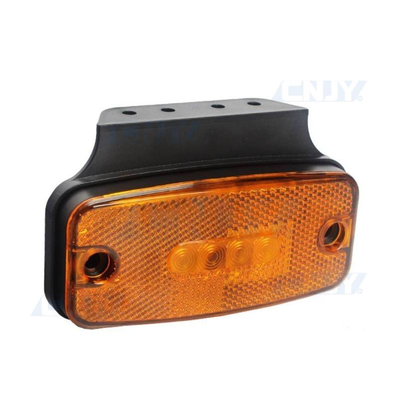 Feu de gabarit à led orange pour camion remorque 12V 24V