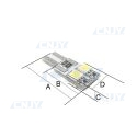 AMPOULE 4 LED W5W T10 12V 2 FACES SMD ANTI ERREUR CANBUS ODB
