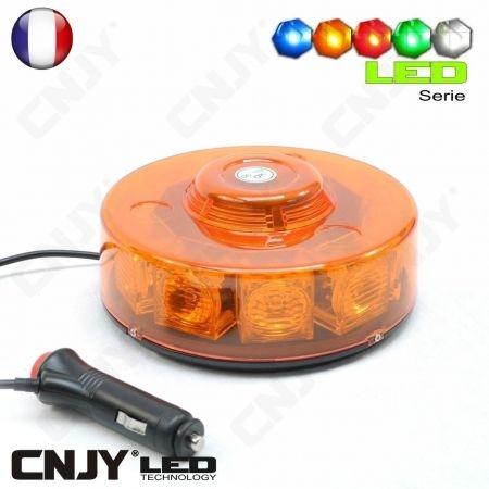 Gyrophare led magnétique 10W rotobox V1 - coloris au choix
