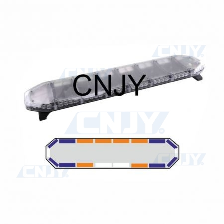 Gyrophare rampe de toit à led extra plat pour ambulance BLEU-ORANGE CNJY® VRX1 120cm