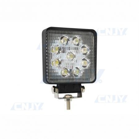 Phare de travail à led feux projecteur carré GZER® 24W 12V 24V