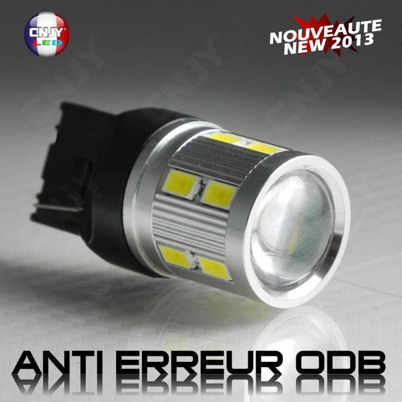 1 AMPOULE LED T20 7440 W21W CREE LED SMD TITAN CANBUS ANTI ERREUR ODB