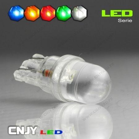 1 AMPOULE T10 W5W 1 LED RONDE CONCAVE BIG-LED TIGER