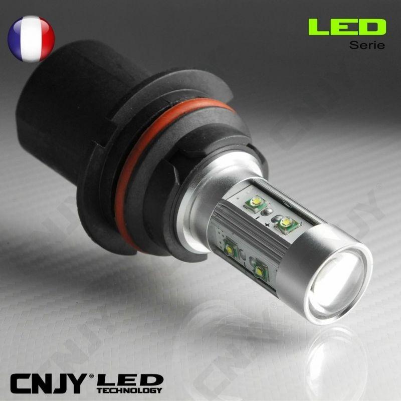 1 AMPOULE LED HB5 9007 P29T 50W CREE LENTICULAIRE 12V POUR FEUX DE JOUR & PHARE ANTI BROUILLARD
