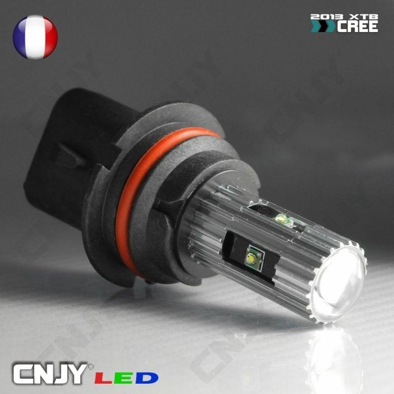 1 AMPOULE LED HB5 9007 P29T 25W CREE LENTICULAIRE 12V POUR FEUX DE JOUR & PHARE ANTI BROUILLARD
