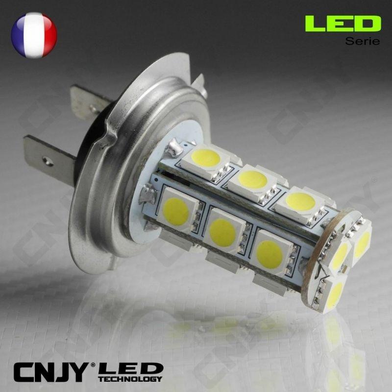 1 AMPOULE LED H7 PX26D 18SMD 12V POUR FEUX DE JOUR & PHARE ANTI BROUILLARD