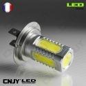1 AMPOULE LED H7 PX26D 8W HLU 8000K 12V POUR FEUX DE JOUR & PHARE ANTI BROUILLARD