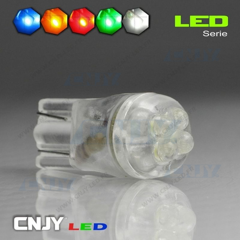 1 AMPOULE T10 W5W 4 LED RONDE XTREMLED
