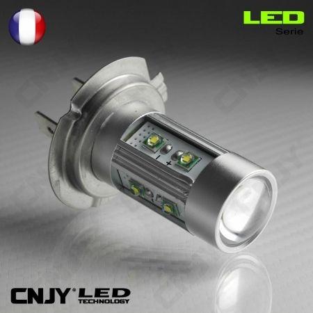 1 AMPOULE LED H7 PX26D 50W CREE LENTICULAIRE 12V POUR FEUX DE JOUR & PHARE ANTI BROUILLARD
