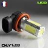 1 AMPOULE LED H8 PGJ19-1 8W HLU 8000K 12V POUR FEUX DE JOUR & PHARE ANTI BROUILLARD