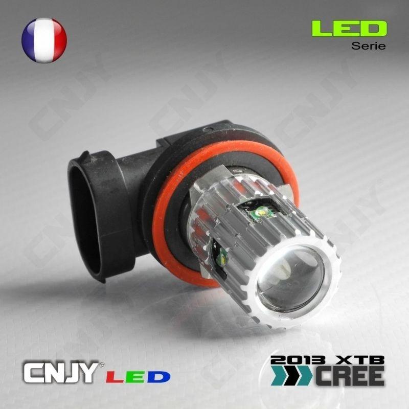 1 AMPOULE LED H8 PGJ19-1 25W CREE LENTICULAIRE 12V POUR FEUX DE JOUR & PHARE ANTI BROUILLARD