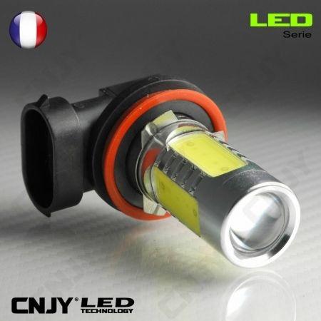1 AMPOULE LED H9 PGJ19-5 11W HLU+CREE LENTICULAIRE 12V POUR FEUX DE JOUR & PHARE ANTI BROUILLARD
