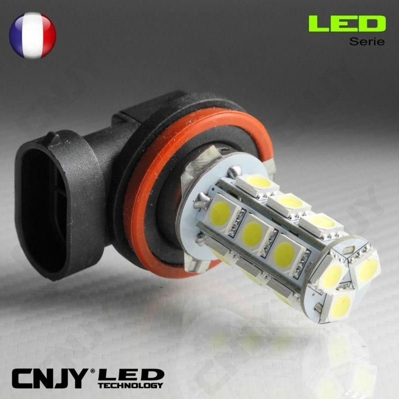 1 AMPOULE LED H11 PGJ19-2 18SMD 12V POUR FEUX DE JOUR & PHARE ANTI BROUILLARD