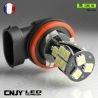 1 AMPOULE LED H11 PGJ19-2 18SMD CANBUS ANTI ERREUR 12V POUR FEUX DE JOUR & PHARE ANTI BROUILLARD