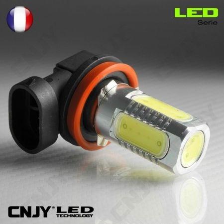 1 AMPOULE LED H11 PGJ19-2 8W HLU 8000K 12V POUR FEUX DE JOUR & PHARE ANTI BROUILLARD