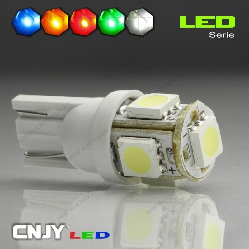 AMPOULE T10 12V W5W 5 LED SMD