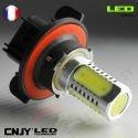 1 AMPOULE LED H13 9008 8W HLU 8000K SMD 12V POUR FEUX DE JOUR & PHARE ANTI BROUILLARD